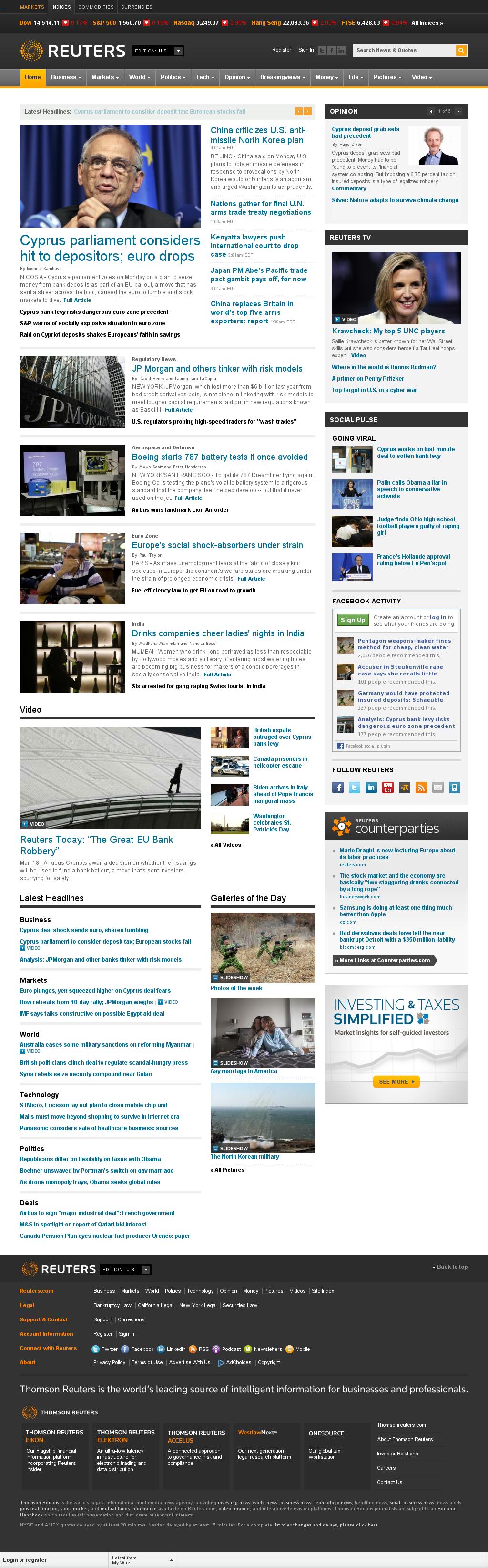 Reuters at Monday March 18, 2013, 9:19 a.m. UTC