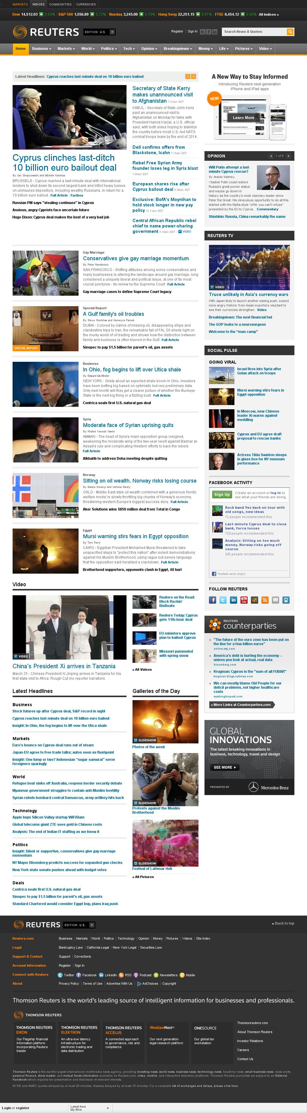Reuters at Monday March 25, 2013, 11:40 a.m. UTC