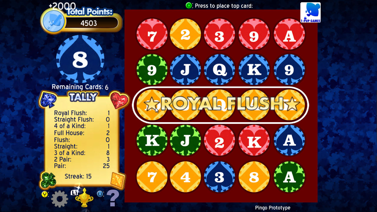 Screenshot of Pingo Puzzle Poker