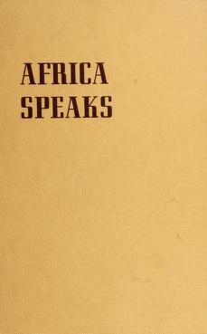 Cover of: Africa speaks | Duffy, James