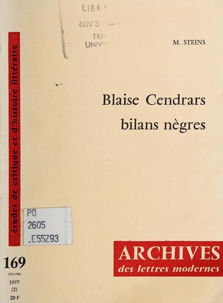 Blaise Cendrars by Martin Steins