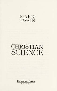 Cover of: Christian Science | Mark Twain