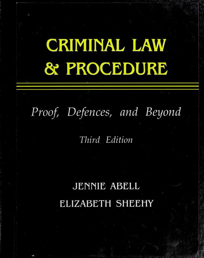Criminal Law & Procedure by