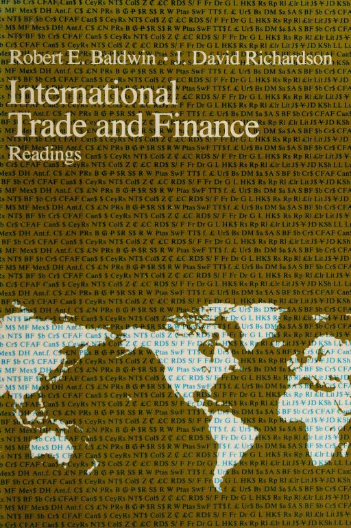 International trade and finance by Robert E. Baldwin