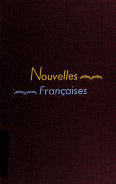 Cover of: Nouvelles françaises (19e-20e siècles) | Marie Louise Michaud Hall