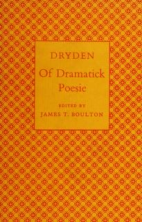 Cover of: Of dramatick poesie | John Dryden